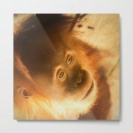 Baby Face  (digital painting) Metal Print