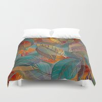andreas preis Duvet Covers featuring Autumn Pattern by Klara Acel