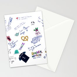 The office doodle Stationery Cards