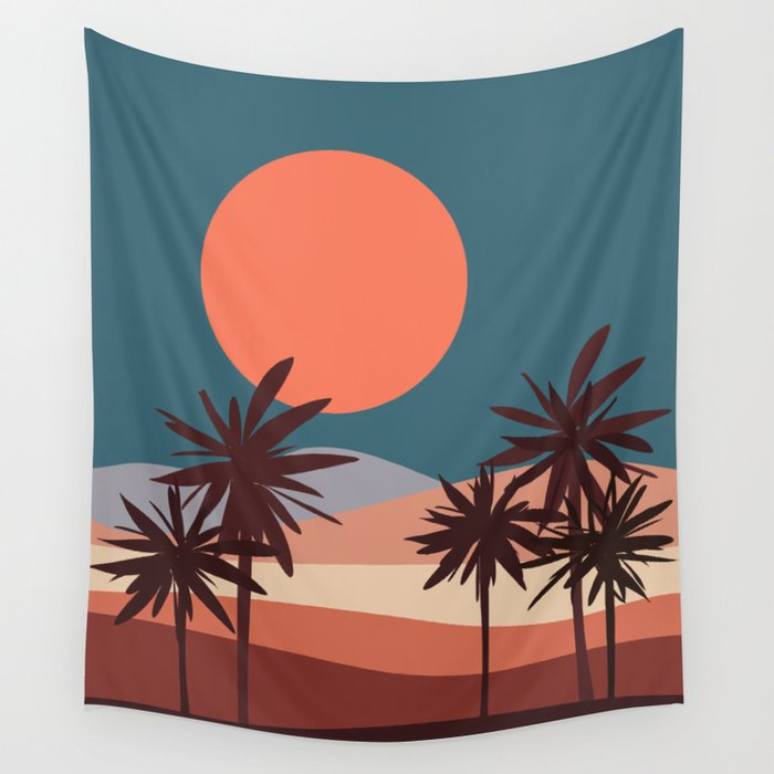Abstract Landscape 13 Portrait Wall Tapestry