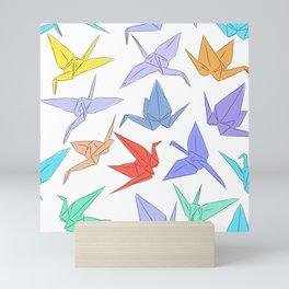 Japanese Origami paper cranes symbol of happiness, luck and longevity Mini Art Print