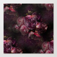 peony Canvas Prints featuring peony by MINTSENSEART
