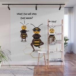 Newfangled Bee Dance Wall Mural