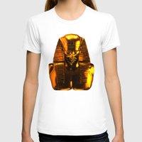 versace T-shirts featuring Gangsta Pharaoh II Gold & Versace by KARAM