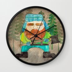 Lumberjack Attack, Modern Mr. Lumberjack Wall Clock