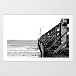 Cayucos Pier Art Print
