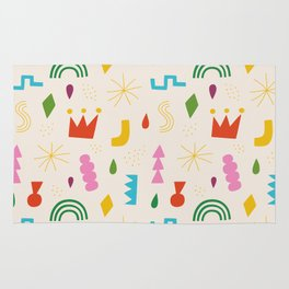 Simple shapes Rug