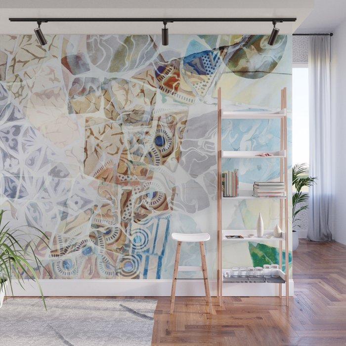 Mosaic Of Barcelona Ix Wall Mural By Amini54 Society6