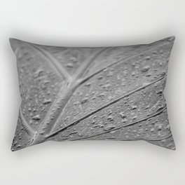 Macro still life, fine art, interior decoration, home design, b&w photo, flowers, leaves Rectangular Pillow