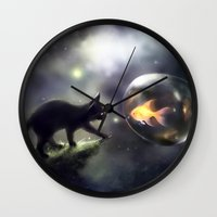 the thing Wall Clocks featuring mutual thing by apofiss