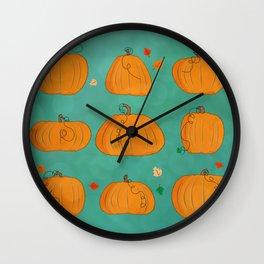 pumpkins Wall Clock