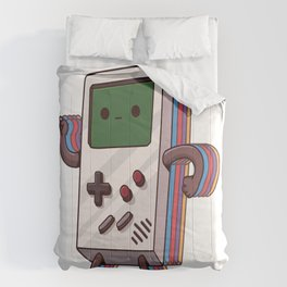 Old Gaming Device Handheld Game Consoles Comforters