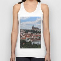 prague Tank Tops featuring Prague CityScape by Andrew Schmidt