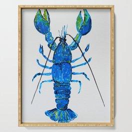 Blue Lobster Wall Art, Lobster Bathroom Decor, Lobster Crustacean Marine Biology Serving Tray