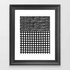 Circles and Grids Framed Art Print