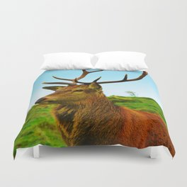 The Stag on the hill Duvet Cover
