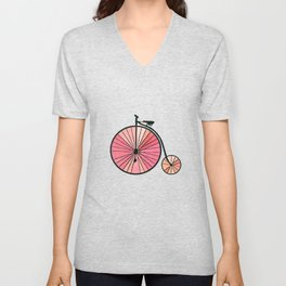 Old bicycle Unisex V-Neck