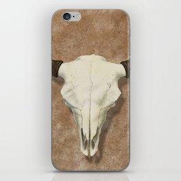 Bison Skull with Rose Rocks iPhone Skin