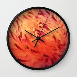 FLAME THISTLE BLOOM Wall Clock