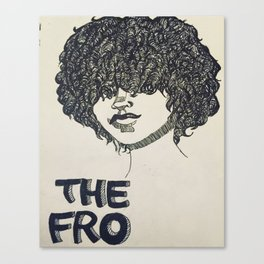 The Fro  Canvas Print
