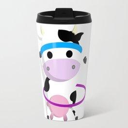 TeeTee - The Aerobic Cow #01 Travel Mug