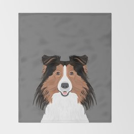 Jordan - Shetland Sheep Dog gifts for sheltie owners and dog people gift ideas perfect dog gifts Throw Blanket