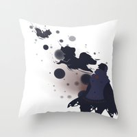 dmmd Throw Pillows featuring Take me away by Aspen Bear