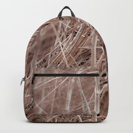 Closeup brown dry grass field texture abstract Backpack