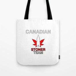 Canadian Stoner Team Weed Tote Bag