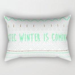 Aztec Winter is coming... Rectangular Pillow