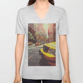 NYC Taxi Cab Unisex V-Neck