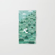 Tree Hugger (Spring & Summer version) Hand & Bath Towel