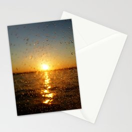 Sunset Glass Water Drops Color Photo Stationery Cards