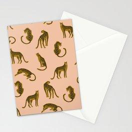 Blush Leopard Pattern Stationery Cards