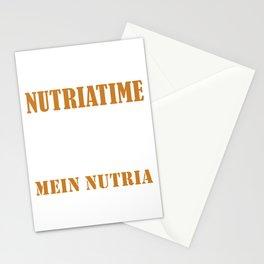 Endlich wieder Nutriatime Rodent Nutria Coypu Myocastor Stationery Cards
