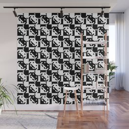 Black and white invaders pattern Wall Mural