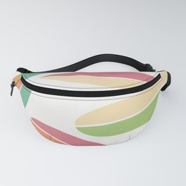 Abstract Retro Color Surfboards Fanny Pack