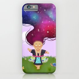 Nova Queen, Hmong Girl Galaxy Wall Art iPhone Case