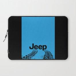 Jeep 'Tire-tracks' Surfblue Laptop Sleeve