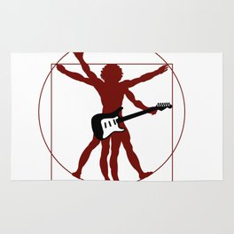 DaVinci's vitruvian man ready to rock Rug