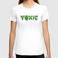 surfer T-shirts featuring Toxic Surfer by Joel Hustak