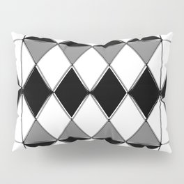 Shiny diamonds in black and white. Geometric abstract. Pillow Sham