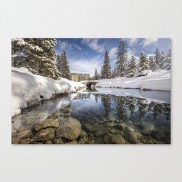 Lake Louise River Canvas Print