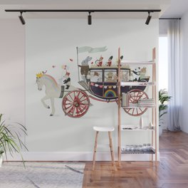 the rainbow carriage Wall Mural