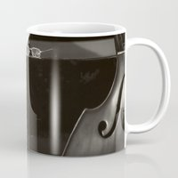 music notes Mugs featuring Grand Piano and Music Notes by cinema4design