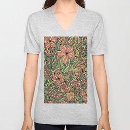 Floral delicate pattern Unisex V-Neck