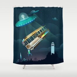 World Issues-San Francisco Incident Shower Curtain