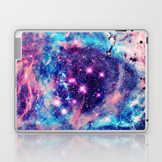 Trendy Pastel Pink Blue Nebula Girly Stars Galaxy Laptop