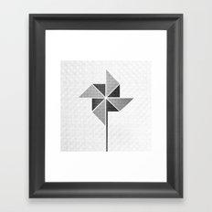 Origami Windmill Framed Art Print