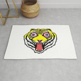 Psychedelic Tiger Eyes by Hello Banana Rug